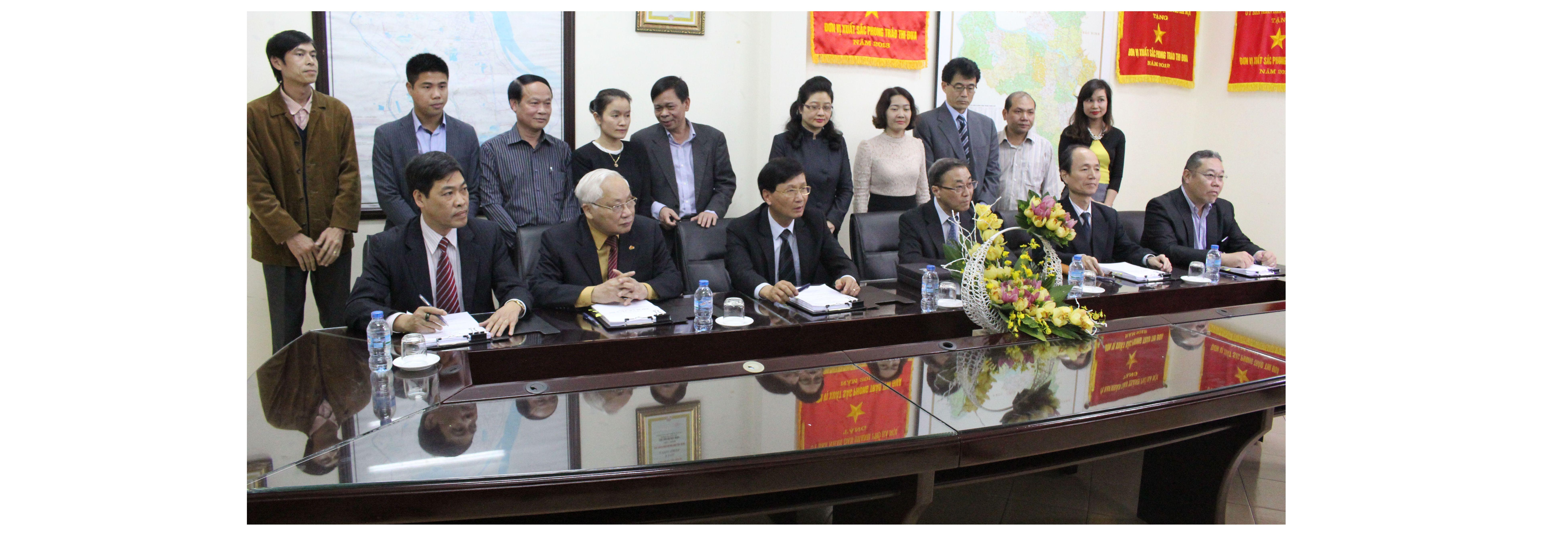 Lễ ký kết hợp đồng: Xử lý nước thải Yên Xá